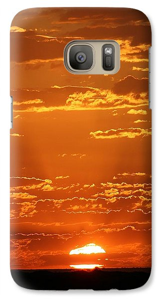 Galaxy Case featuring the photograph Sunset Clouds by Henry Kowalski