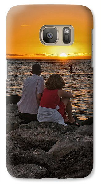 Galaxy Case featuring the photograph Sunset Moment by John Swartz