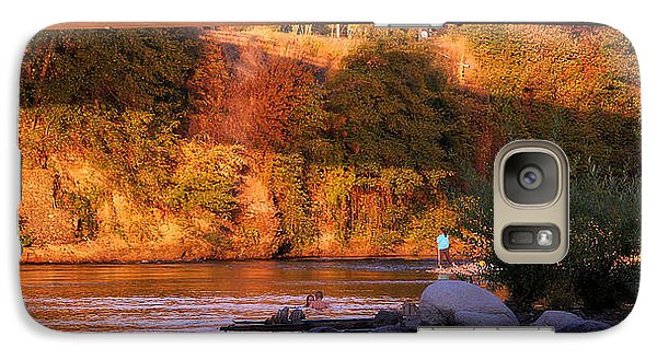 Galaxy Case featuring the photograph Sunset Dip by Melanie Lankford Photography