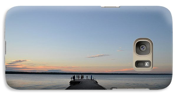 Galaxy Case featuring the photograph Sunset Dock 2  by Lyle Crump