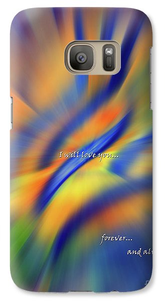 Galaxy Case featuring the mixed media Sunset Dreams I Will Love You Forever  by Cathy  Beharriell