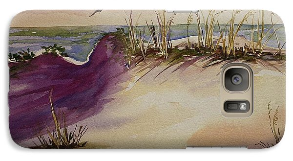 Galaxy Case featuring the painting Sunset Dunes by Roxanne Tobaison