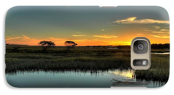 Galaxy Case featuring the photograph Sunset by Ed Roberts