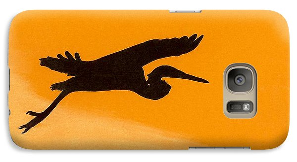 Galaxy Case featuring the drawing Sunset Flight by D Hackett