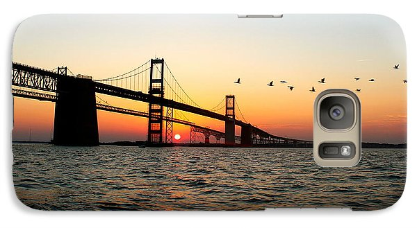 Galaxy Case featuring the photograph Sunset Flight by Jennifer Casey