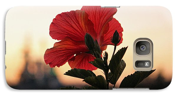 Galaxy Case featuring the photograph Sunset Flower by Cynthia Guinn