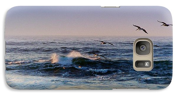 Galaxy Case featuring the photograph Sunset Fly by Kathy Bassett