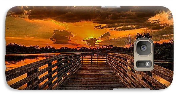Galaxy Case featuring the photograph Sunset From The Dock by Don Durfee