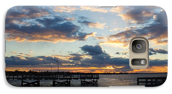 Galaxy Case featuring the photograph Sunset From The Fishing Piers by Jose Oquendo
