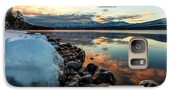 Galaxy Case featuring the photograph Sunset Frozen by Aaron Aldrich