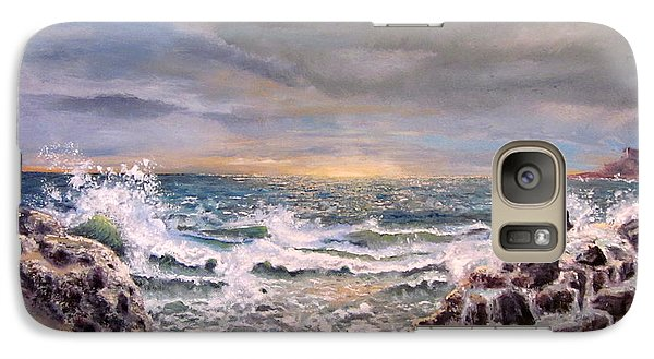 Galaxy Case featuring the painting Sunset by Geni Gorani