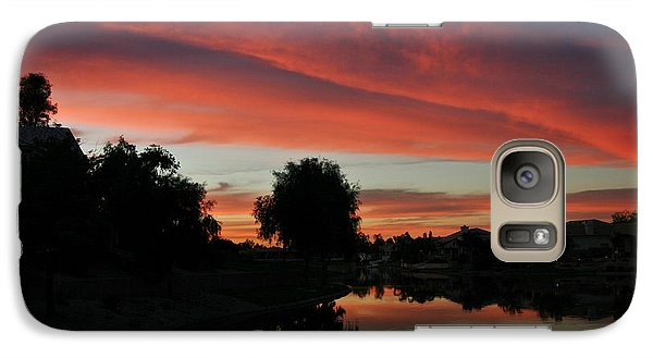 Galaxy Case featuring the photograph Sunset Gilbert Arizona 2004 by Ron Chilston