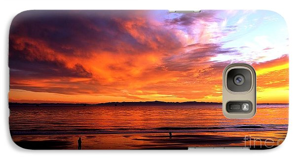 Galaxy Case featuring the photograph Sunset Glow by Sue Halstenberg