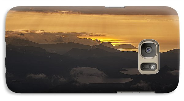 Galaxy Case featuring the photograph Sunset by Gunnar Orn Arnason