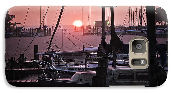 Galaxy Case featuring the photograph Sunset Harbor by Kelly Reber