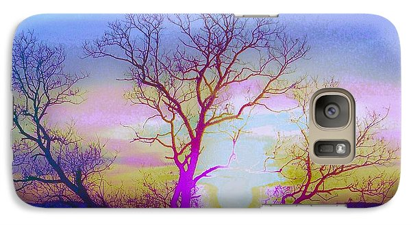 Galaxy Case featuring the photograph sunset I by Shirley Moravec