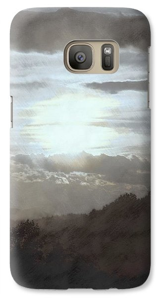 Galaxy Case featuring the photograph Sunset Impressions Over The Blue Ridge Mountains by Photographic Arts And Design Studio