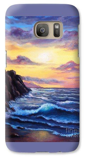 Galaxy Case featuring the painting Sunset In Colors by Bozena Zajaczkowska