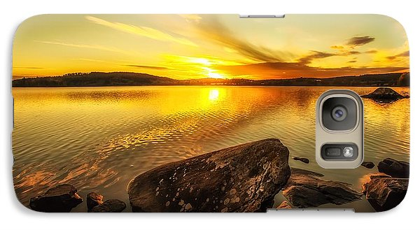 Galaxy Case featuring the photograph Sunset In Our Little Village  by Rose-Maries Pictures