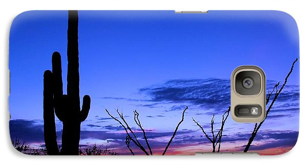 Galaxy Case featuring the photograph Sunset In Saguaro National Park by Elizabeth Budd