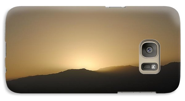 Galaxy Case featuring the photograph Sunset In Santa Monica by Robert  Moss