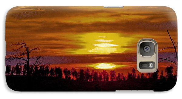Galaxy Case featuring the photograph Sunset In The Black Hills 2 by Cathy Anderson