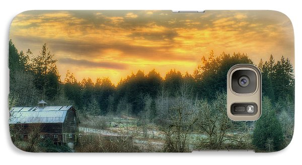 Galaxy Case featuring the photograph Sunset In The Valley by Jeff Cook