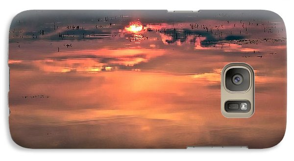 Galaxy Case featuring the photograph Sunset In The Water by Michaela Preston
