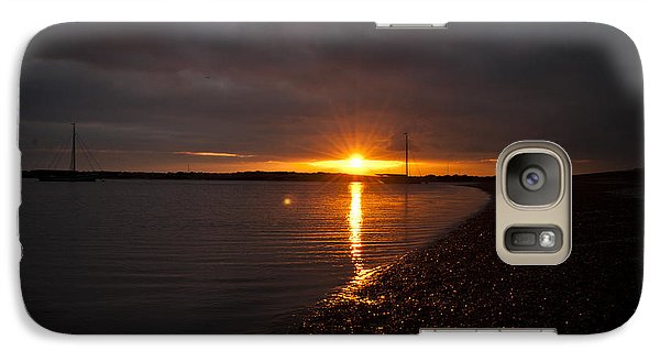 Galaxy Case featuring the photograph Sunset In West Mersea by David Isaacson