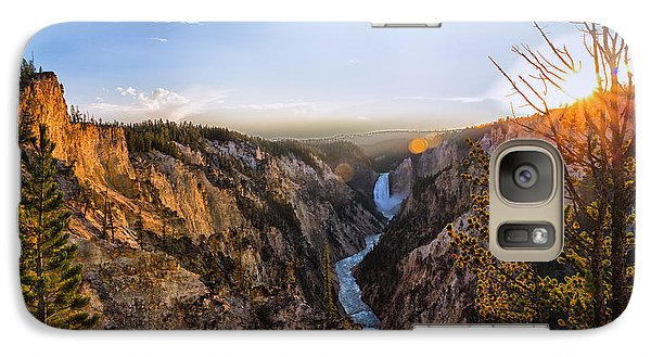 Sunset In Yellowstone Grand Canyon Galaxy S7 Case