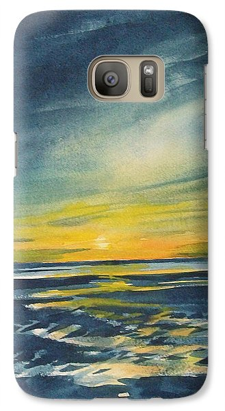 Galaxy Case featuring the painting Sunset by Jane See