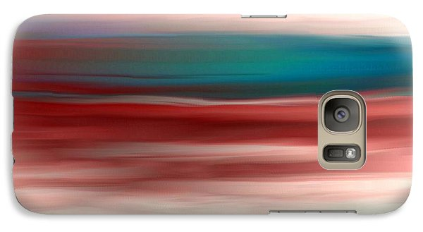 Galaxy Case featuring the painting Sunset by Jessica Wright