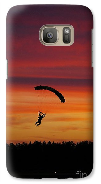 Galaxy Case featuring the photograph Sunset Landing by Tannis  Baldwin