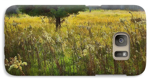 Galaxy Case featuring the photograph Sunset Meadow by John Hansen