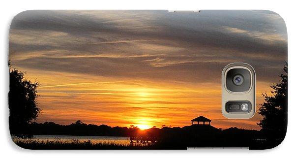 Galaxy Case featuring the photograph Sunset Mellow Love  by Joetta Beauford