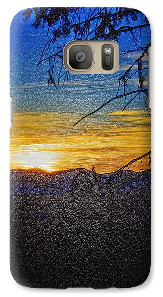 Galaxy Case featuring the photograph Sunset Mountain To Mountain by Janie Johnson