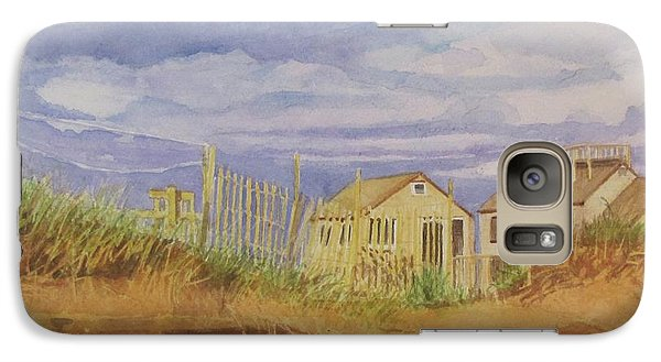 Galaxy Case featuring the painting Sunset Nantucket Beach by Carol Flagg