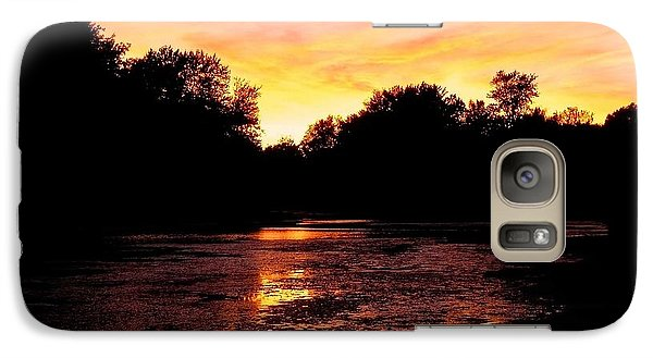 Galaxy Case featuring the photograph Sunset Near Rosemere - Qc by Juergen Weiss