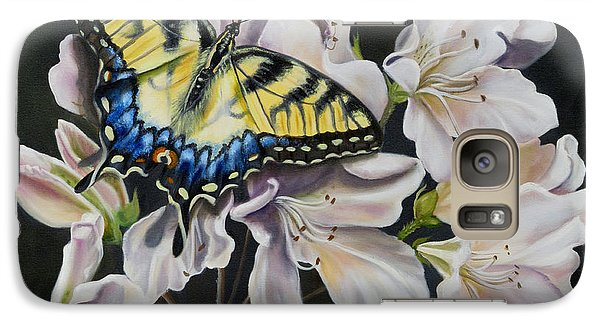 Galaxy Case featuring the painting Sunset On A Swallowtail by Phyllis Beiser
