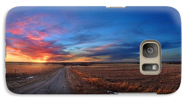 Galaxy Case featuring the photograph Sunset On Aa Road by Rod Seel