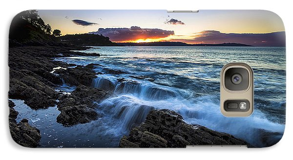 Galaxy Case featuring the photograph Sunset On Ber Beach Galicia Spain by Pablo Avanzini