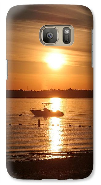 Galaxy Case featuring the photograph Sunset On Boat by Karen Silvestri