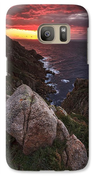 Galaxy Case featuring the photograph Sunset On Cape Prior Galicia Spain by Pablo Avanzini