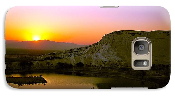 Galaxy Case featuring the photograph Sunset On Cotton Castles by Zafer Gurel