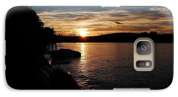 Galaxy Case featuring the photograph Sunset On Halfmoon by Mim White