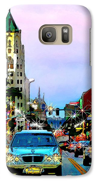 Galaxy Case featuring the digital art Sunset On Hollywood Blvd by Jennie Breeze
