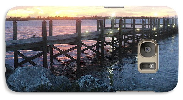 Galaxy Case featuring the photograph Sunset On Indian River by Megan Dirsa-DuBois