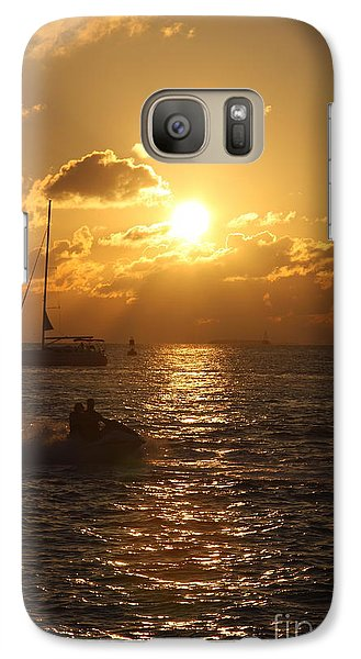 Galaxy Case featuring the photograph Sunset Over Key West by Christiane Schulze Art And Photography