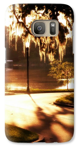 Galaxy Case featuring the digital art Sunset On Lake Mizell by Valerie Reeves