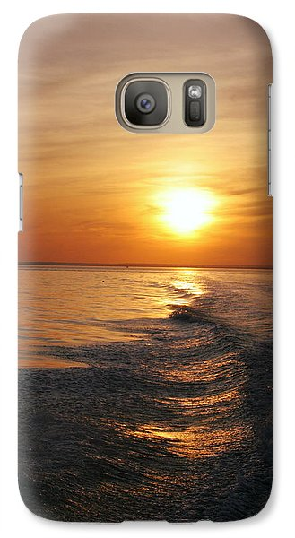 Galaxy Case featuring the photograph Sunset On Long Island Sound by Karen Silvestri